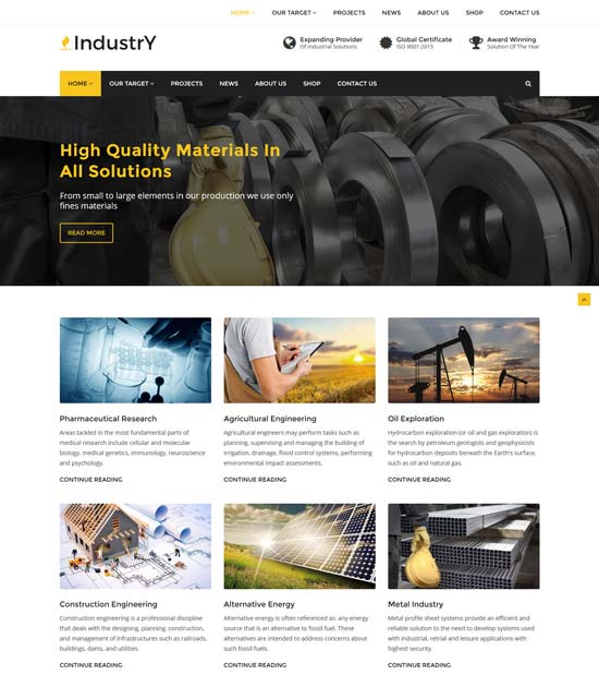 industry factory industry wp theme