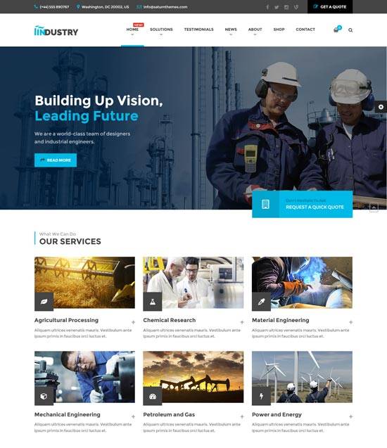 industry factory WordPress theme