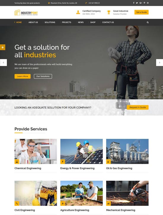 industrypoint industrial html template