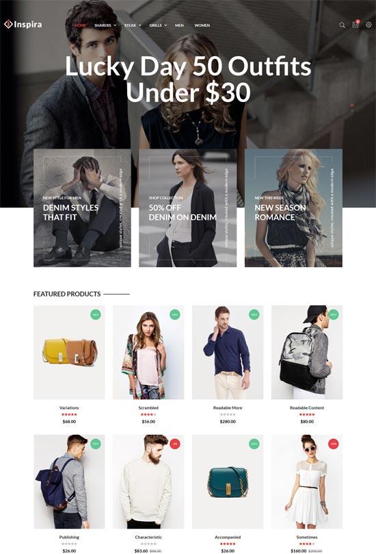 inspira fashion responsive prestashop theme