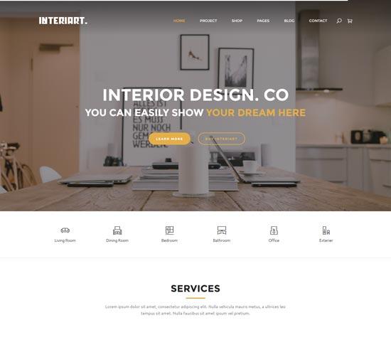 interiart interior design joomla template