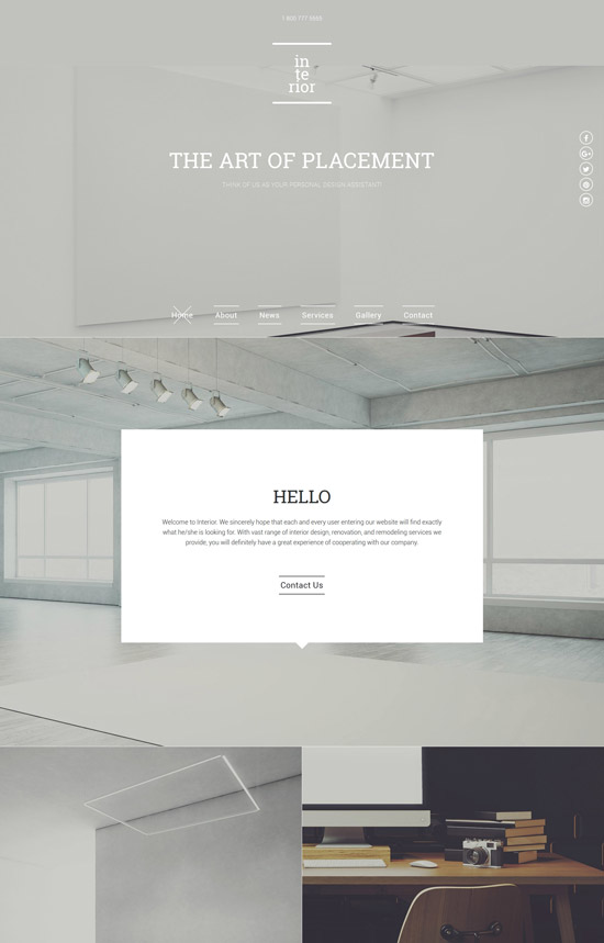 interior decor responsive website template