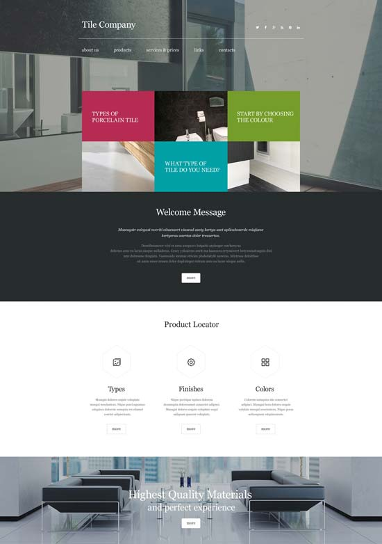 interior design website template 55295