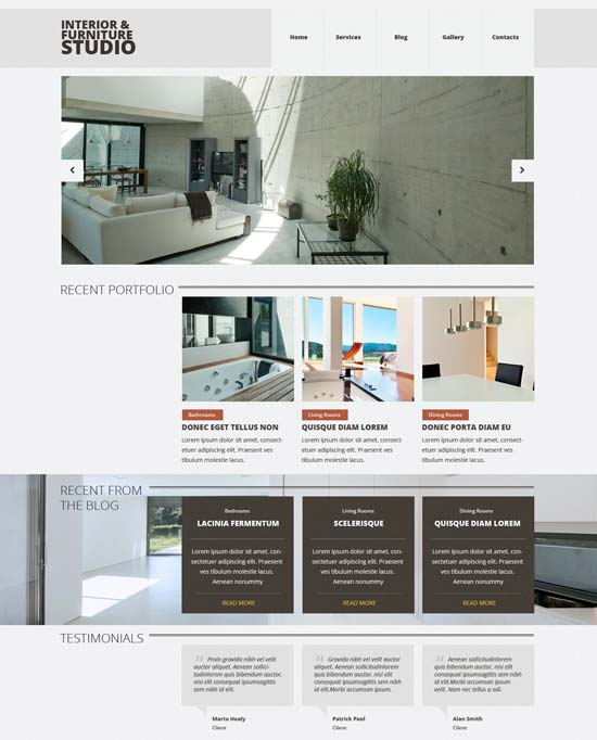 interior furniture joomla template 52863