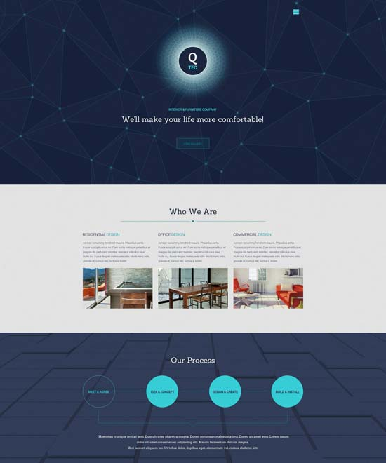 Interior Furniture Website Template 55614