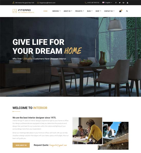 interrio interior design html template