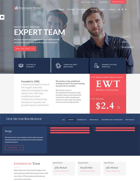 investment expert consultancy business theme