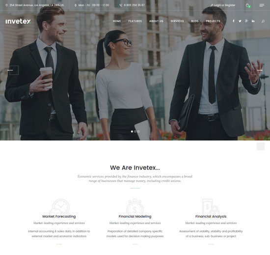 invetex business consulting site template