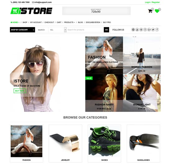 istore free woocommerce WordPress theme