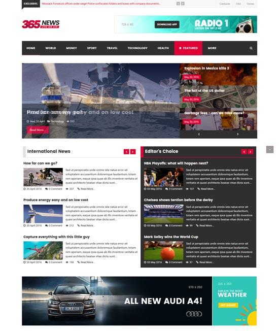 it 365news magazine joomla template