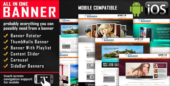 jQuery Banner Rotator / Content Slider / Carousel