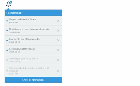 jQuery-Notifications-widget