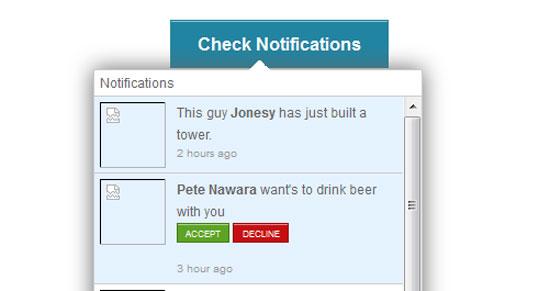 jQuery-notification-menu