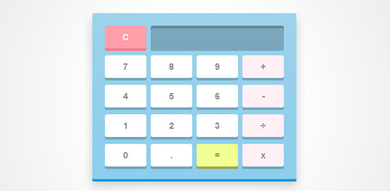 javascript and css3 calculator
