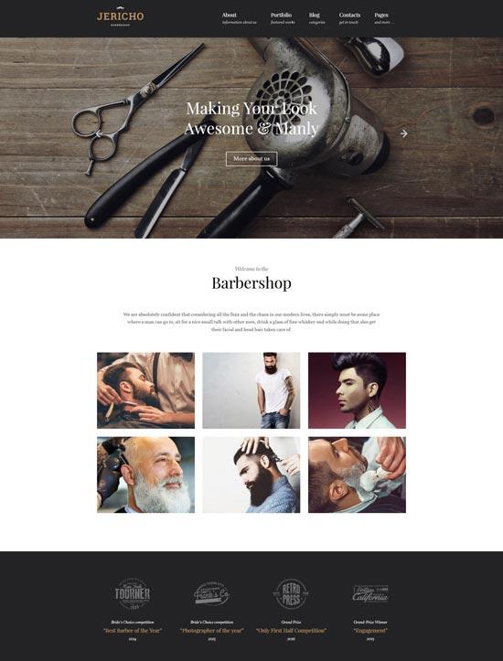 jericho barber shop modern wordpress theme