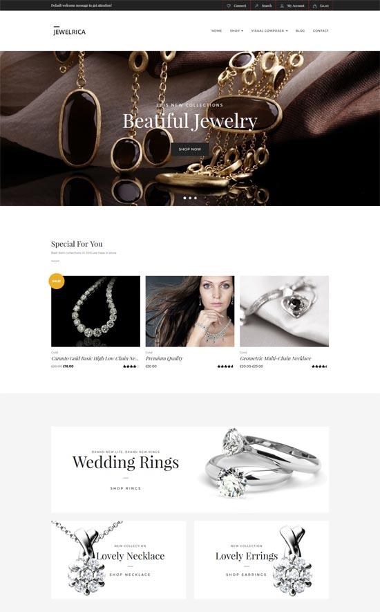 jewelrica ecommerce wordpress theme