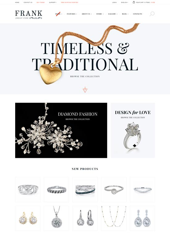 jewelry watches online store theme