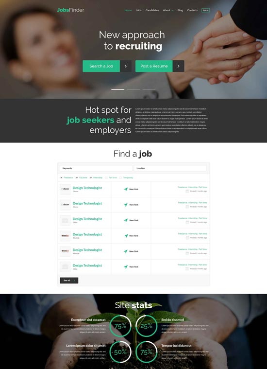 jobsfinder job portal wordpress theme