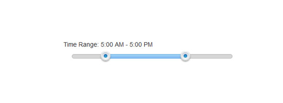 jquery time range slider