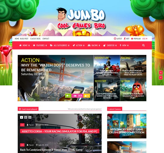 jumbo wordpress gaming theme