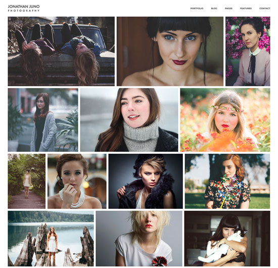 juno photography site template