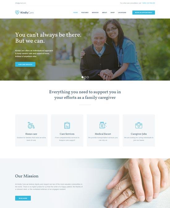kindlycare medical WordPress theme