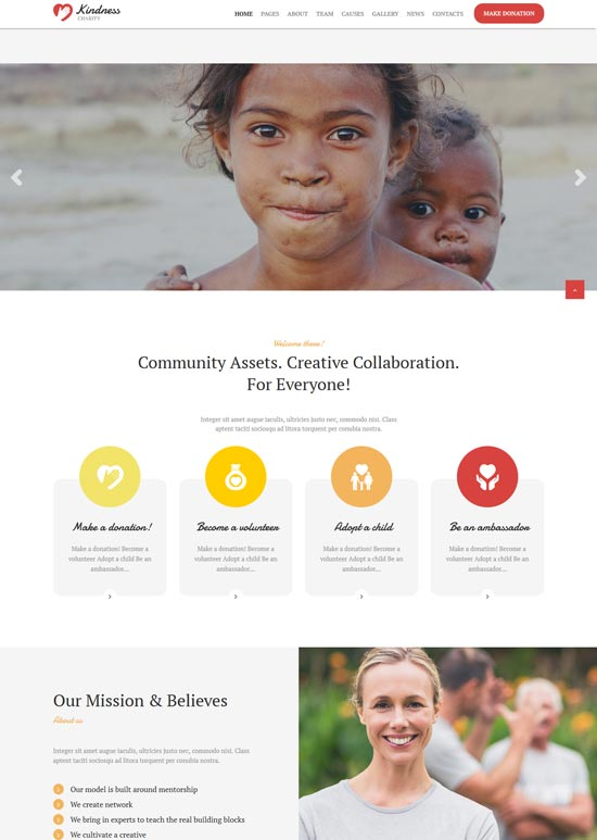 kindness charity donation WordPress theme