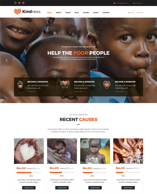 kindness charity html template