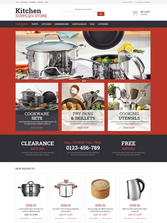 kitchen utensils magento theme 52485