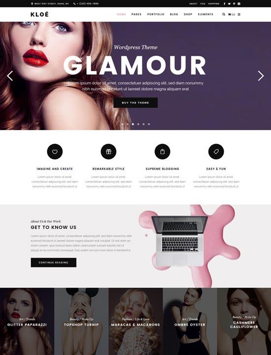 kloe fashion lifestyle WordPress theme