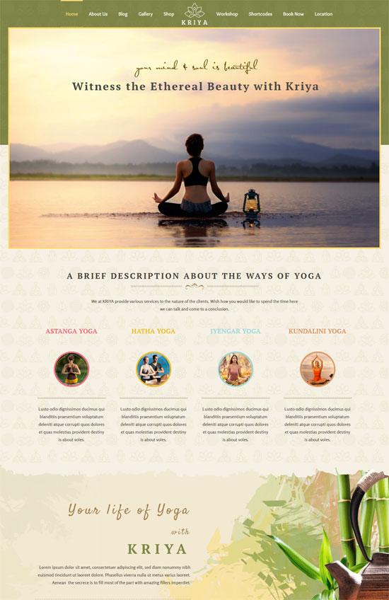 kriya yoga wordpress theme