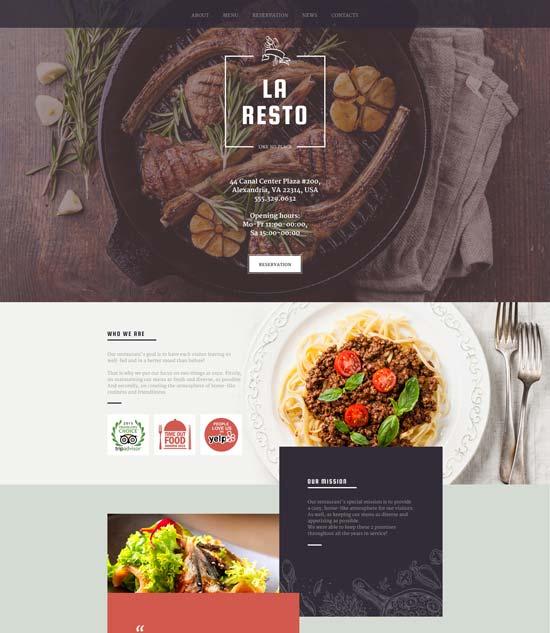 la-resto-cafe-responsive-website-template