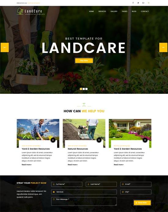 landcare landscaping gardening html template