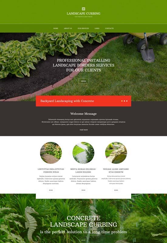 landscape curbing design website template