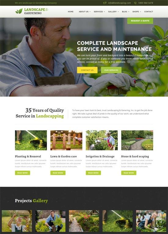 landscape gardening html template