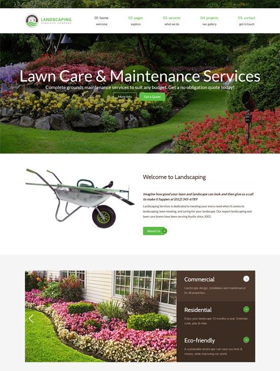 landscaping lawn garden landscape html template