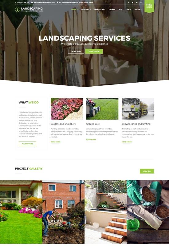landscaping wp landscaping wordpress theme