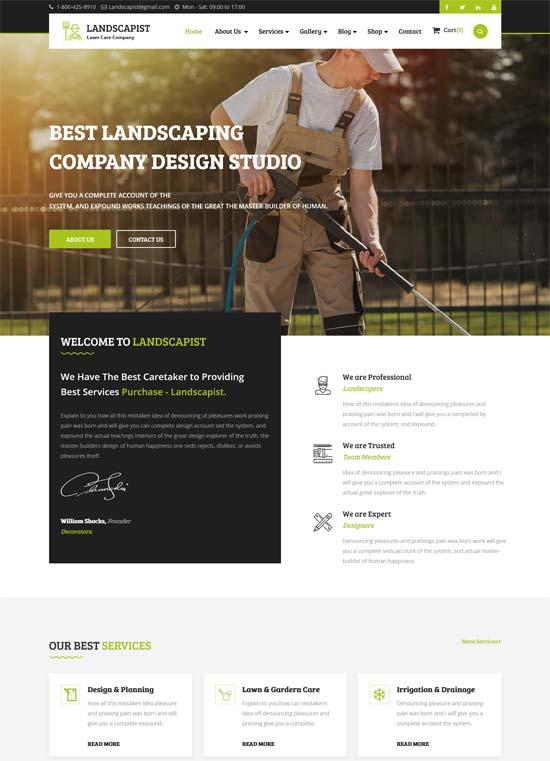 landscapist lawn landscaping html template