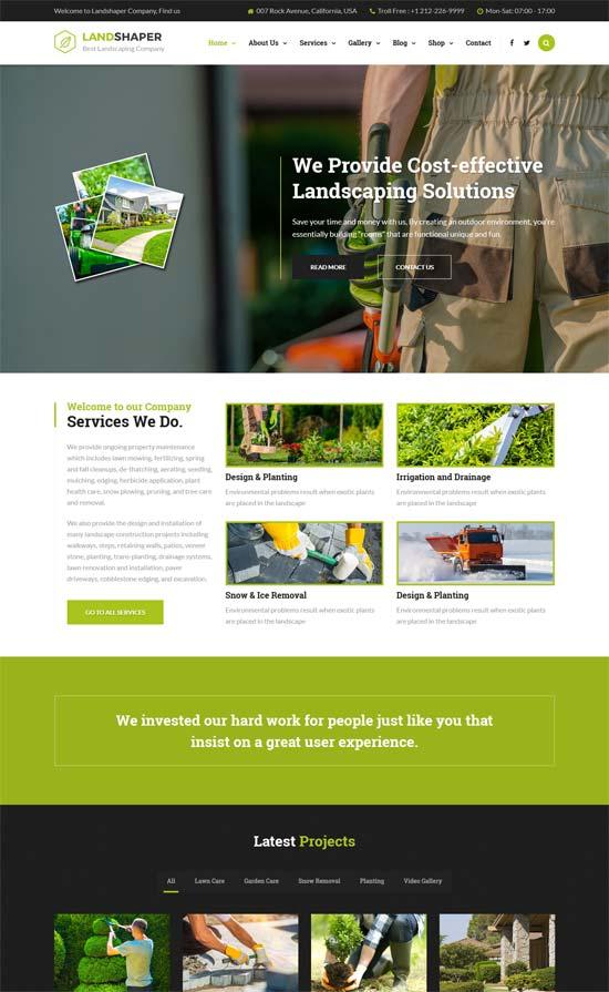 landshaper gardening landscaping html template