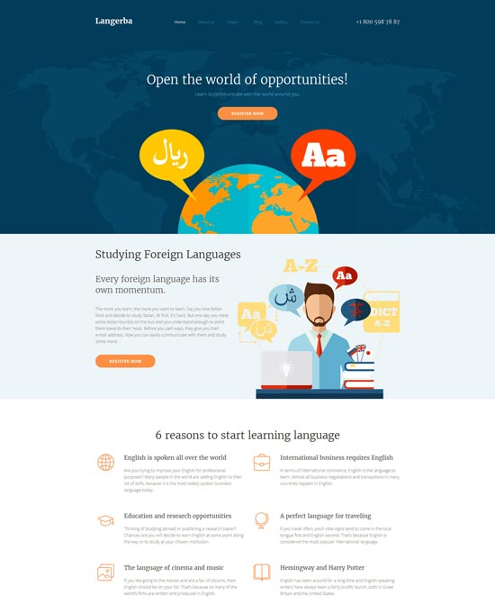 Foreign-Language-Teaching-Joomla-Template