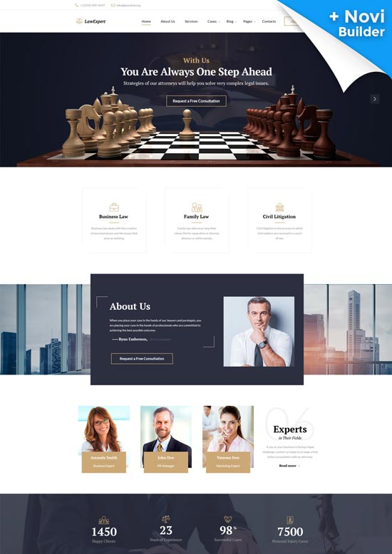 law expert law firm website template
