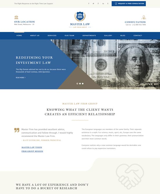 law master attorney lawyer html template