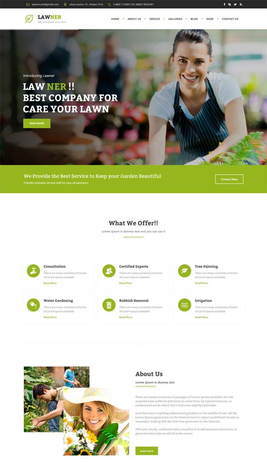 lawner gardening landscaping html template