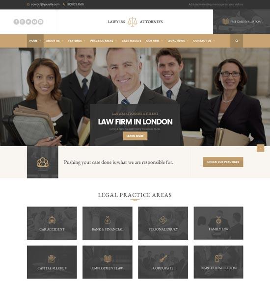 lawyer attorneys law office WordPress theme