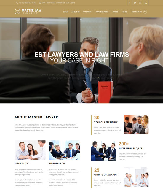 lawyer company html template