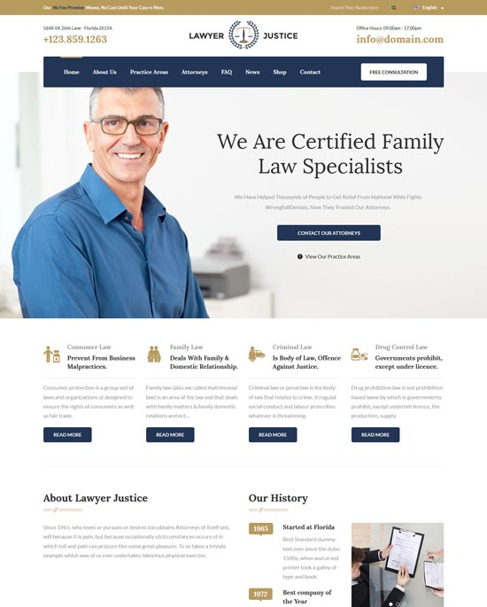 lawyer justice html template