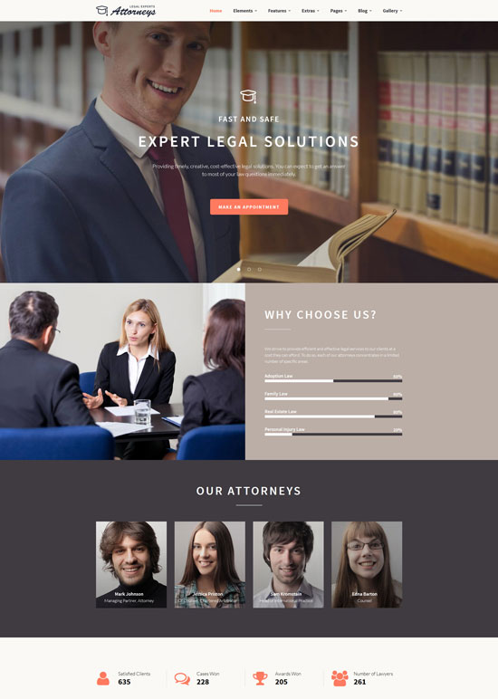 legal experts website template