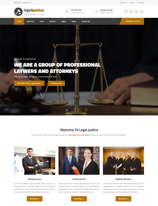 legal justice lawyers attorneys html template
