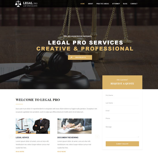 legal pro law business template