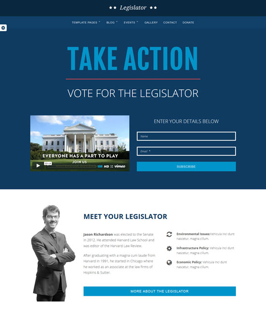 legislator political campaign template